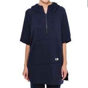 Nike half zip tech fleece poncho sweatshirt sm
